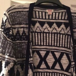 Mossimo Supply Co. Sweaters - MOSSIMO Supply Co. Patterned Long Cardigan